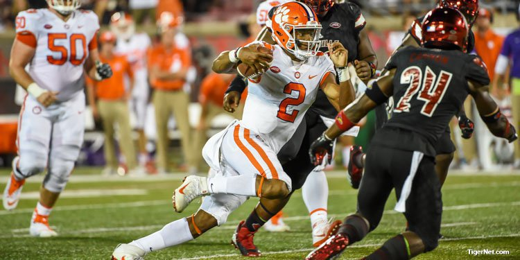Kelly Bryant had a career high 316 yards passing on 22-32 passing.  He also added 26 yards rushing and two scores.