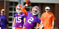 Clemson holds first practice in pads