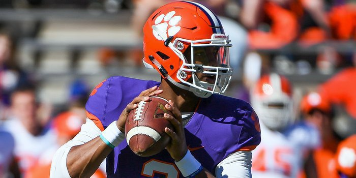 Bryant sets up to pass earlier this spring