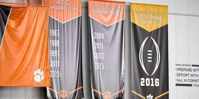 This banner serves as a daily reminder of the loss to Alabama