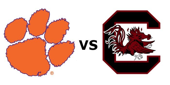 Clemson and South Carolina kick off at 7:30 p.m.