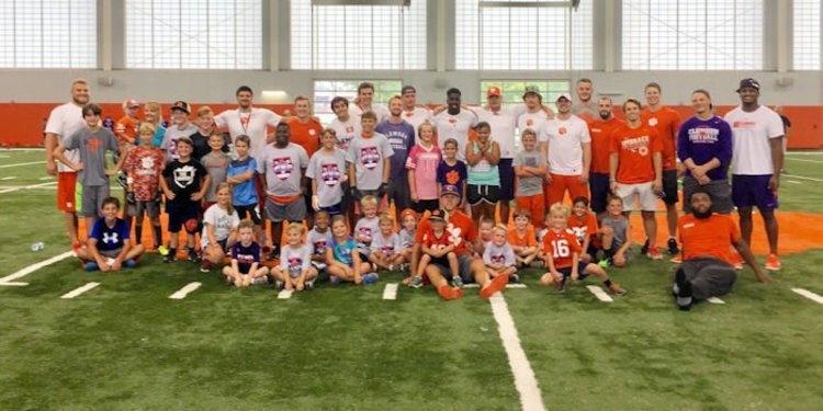Clemson Football held kids combine to raise money for charity