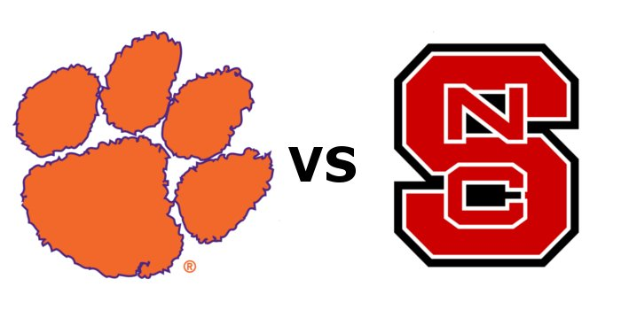 Clemson and NC State kick off at 3:30 p.m.