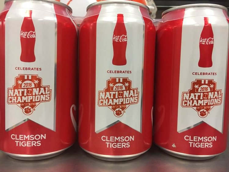Second run of Coke Clemson National Championship cans available now