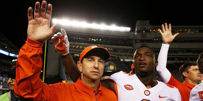 Swinney says the Tigers have the pieces to be elite in 2018 (Photo by Peter Casey, USAT)