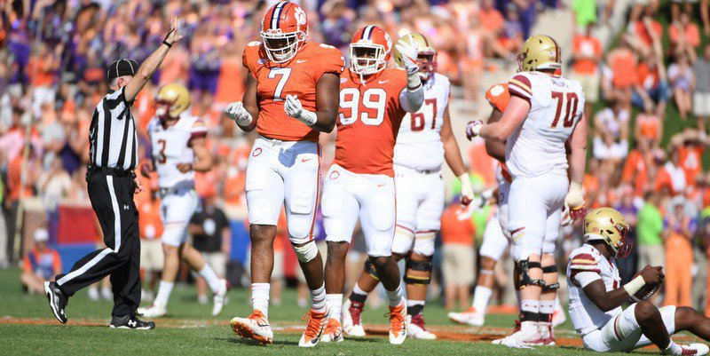Clemson's defense did its part in the win over Boston College