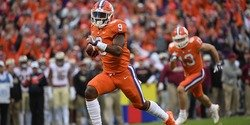 ETN: Freshman running back Travis Etienne sparks Tigers with late runs