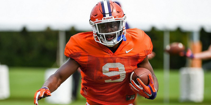 Travis Etienne will likely see his first action Saturday