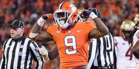 Etienne finished with 97 yards on 14 carries
