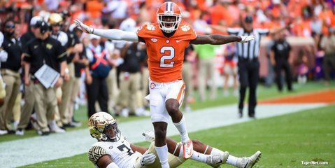 Clemson WR, DB out for Saturday