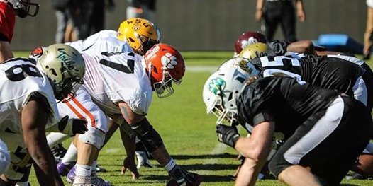 Guillermo at practice this week (courtesy of NFLPA Collegiate Bowl)