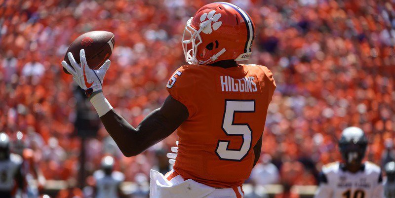 Tee Higgins had two catches for 18 yards