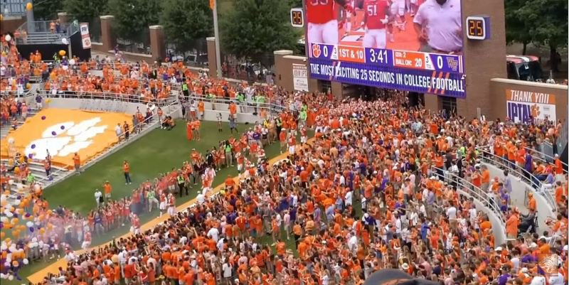 The Hill was empty when the Tigers ran down against Wake Forest