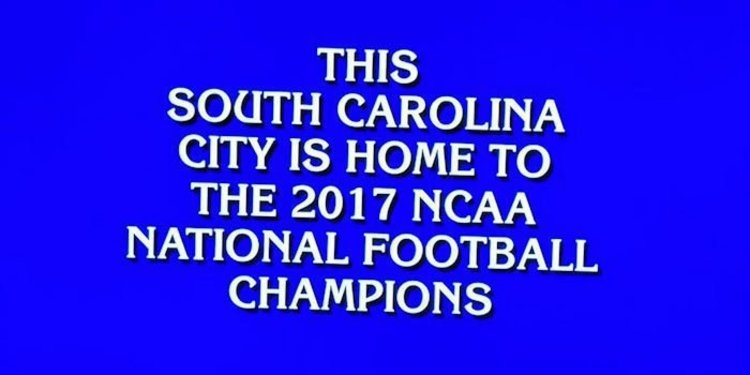 Jeopardy question involving Clemson