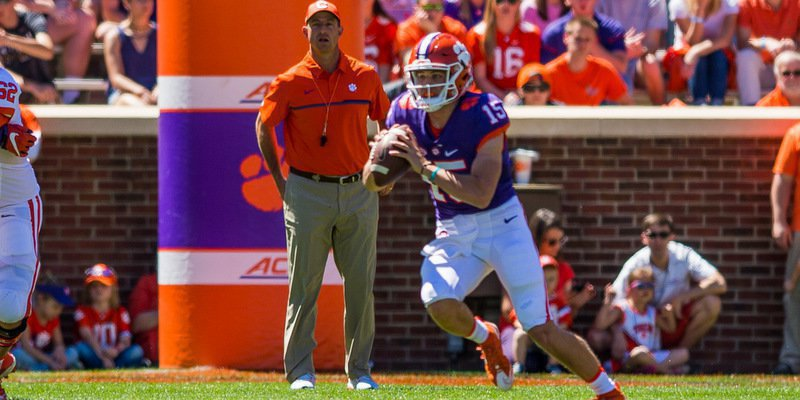 Dabo Swinney and the staff have kept a close eye on Hunter Johnson