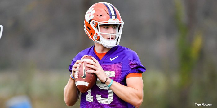 Hunter Johnson will get a long look in fall camp
