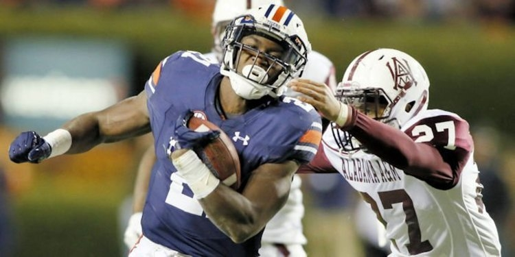 Johnson rushed for 136 yards in Auburn's opener. (John Reed-USA TODAY Sports)