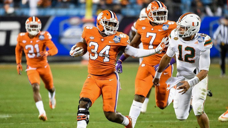 Kendall Joseph makes a play against Miami in the ACC Championship Game