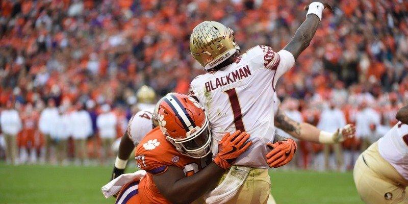 Tre Lamar smashes FSU quarterback James Blackman
