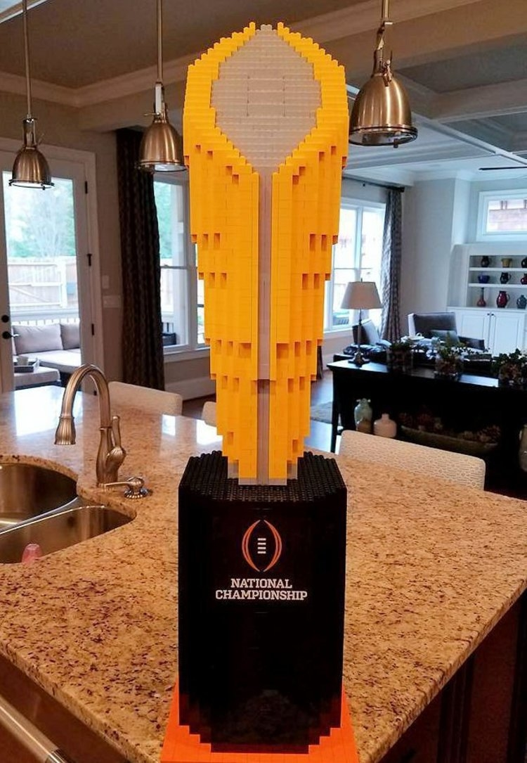 National Championship Trophy in Legos
