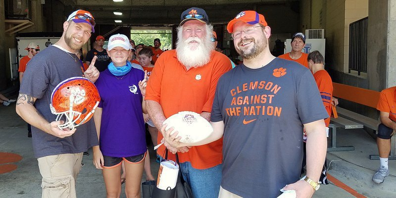 (left to right) Walt Chapman, Skyla Cook, Roy McNeely and James McNeely were first in line for Swinney