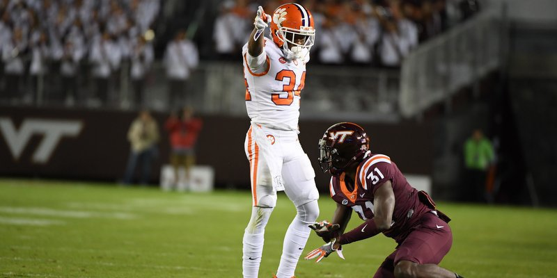 Ray-Ray McCloud points out the first down