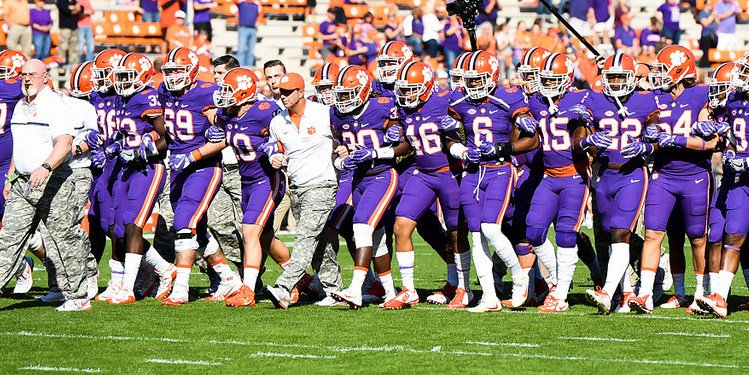 Clemson only wears purple on Military Appreciation Day