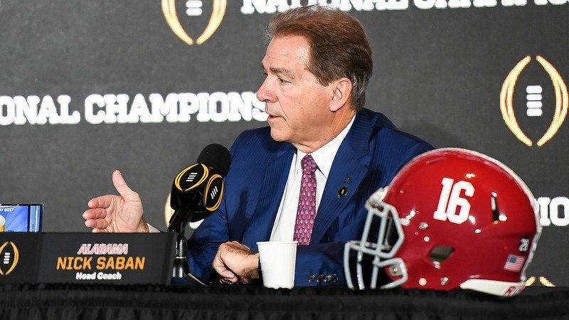 Nick Saban's team is focused on one thing in New Orleans, and it isn't having fun