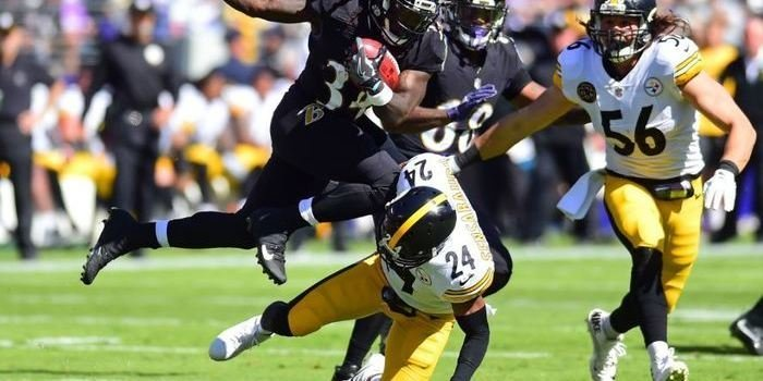 Sensabaugh notched his third career interception in a rematch with his former team (USA TODAY Sports-Evan Habeeb).