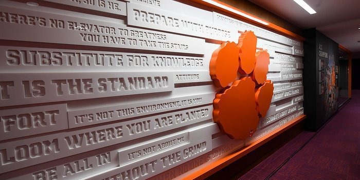 Clemson's new football complex will draw recruits from all over