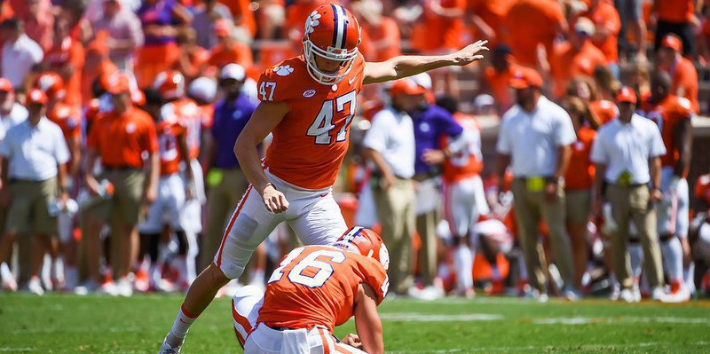 Alex Spence, shown here kicking against Kent St., will get the chance to replace Huegel