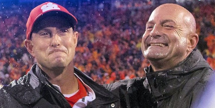 Swinney brothers happy after the ND win (Joshua Kelly - USA Today Sports)