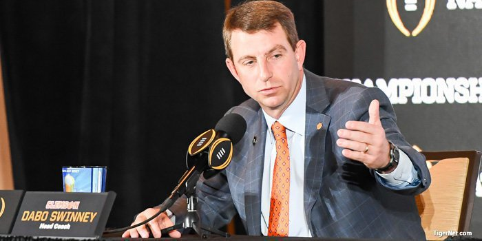 Swinney thinks the rules change hurts high school coaches