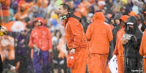 Clemson's streak of 13 consecutive night games on the road is over.