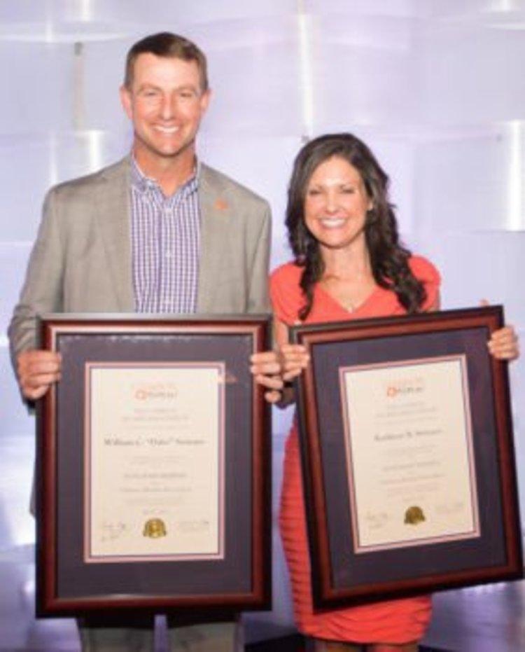 Dabo and Kathleen Swinney (Photo: Clemson Univ)