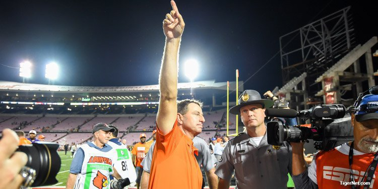 Swinney wanted his Tigers to leave no doubt who was the better team Saturday