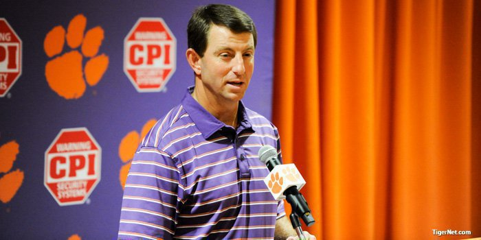 Swinney says the Louisville offense puts up video game numbers
