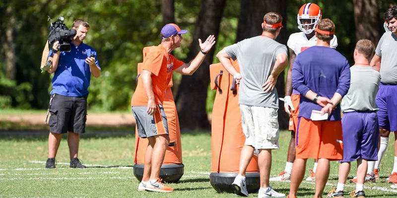 Swinney has the team practicing in Jervey Meadows this week