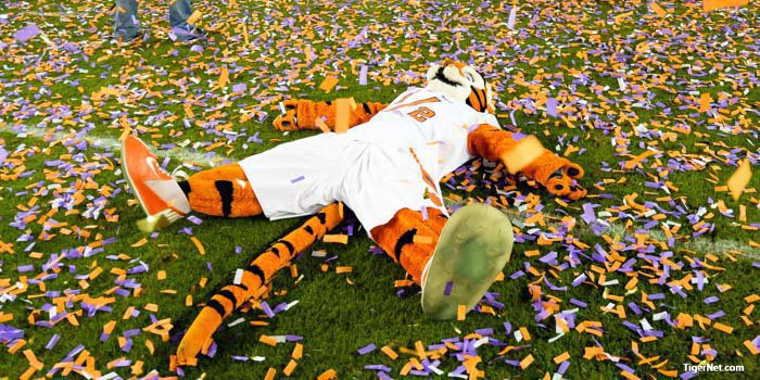 Even the Tiger Cub got in on the celebration
