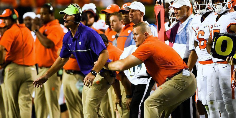 Brent Venables has been playing scout team quarterback