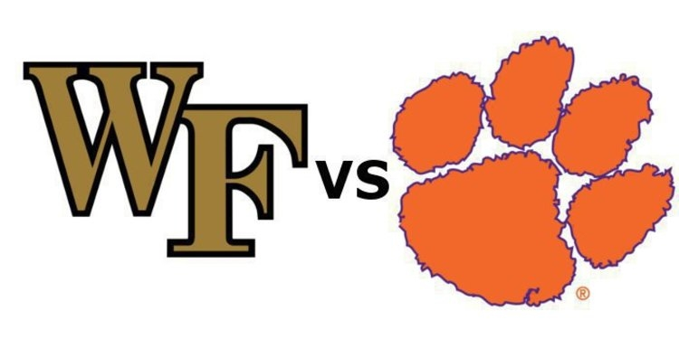 Clemson plays Wake Forest at 3:30 pm Saturday (ABC)
