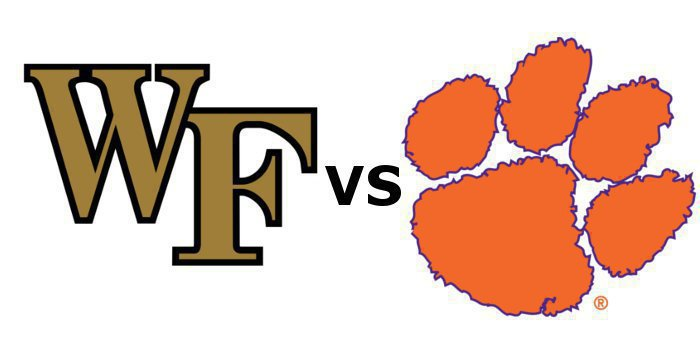 Clemson and Wake Forest kick off at noon