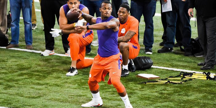 Watson works out at Clemson's Pro Day