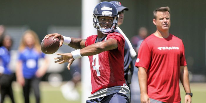 Watson during OTA's with the Texans
