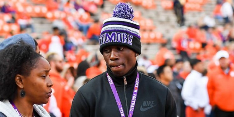 Dixon on his official visit to the Clemson-Citadel game