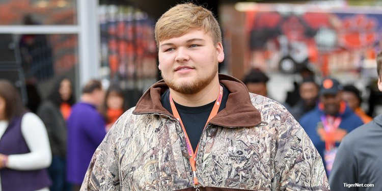 5-star OL Cade Mays spent two days in Clemson for his official visit