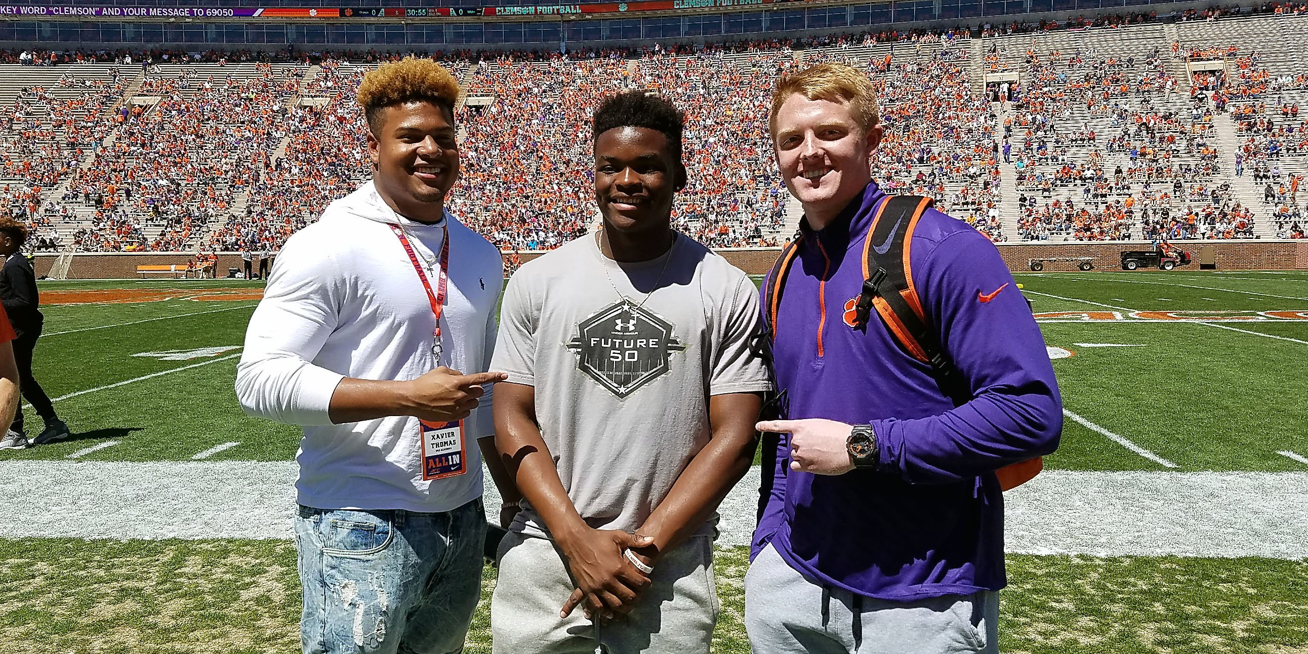 Xavier Thomas, Mike Jones and Jake Venables are three members of the 2018 class