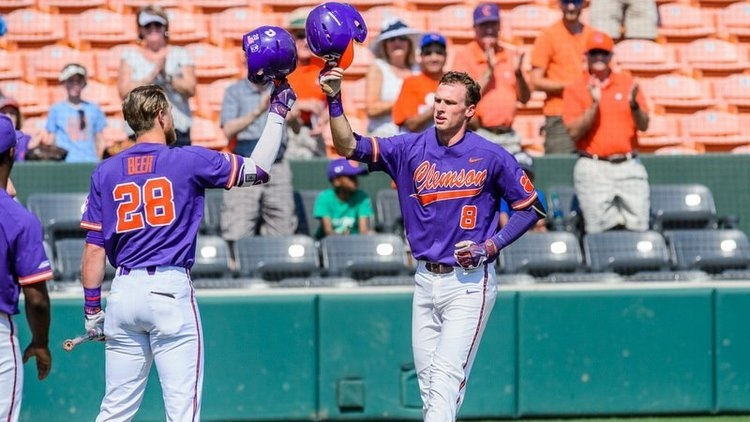 Logan Davidson became the first Clemson player to hit a home run from both sides of the plate in a single game.