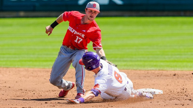 Logan Davidson in action early against NC State (Photo by David Grooms)