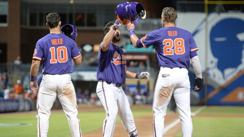Tigers use big inning to dissipate Hurricanes and advance to ACC semifinals